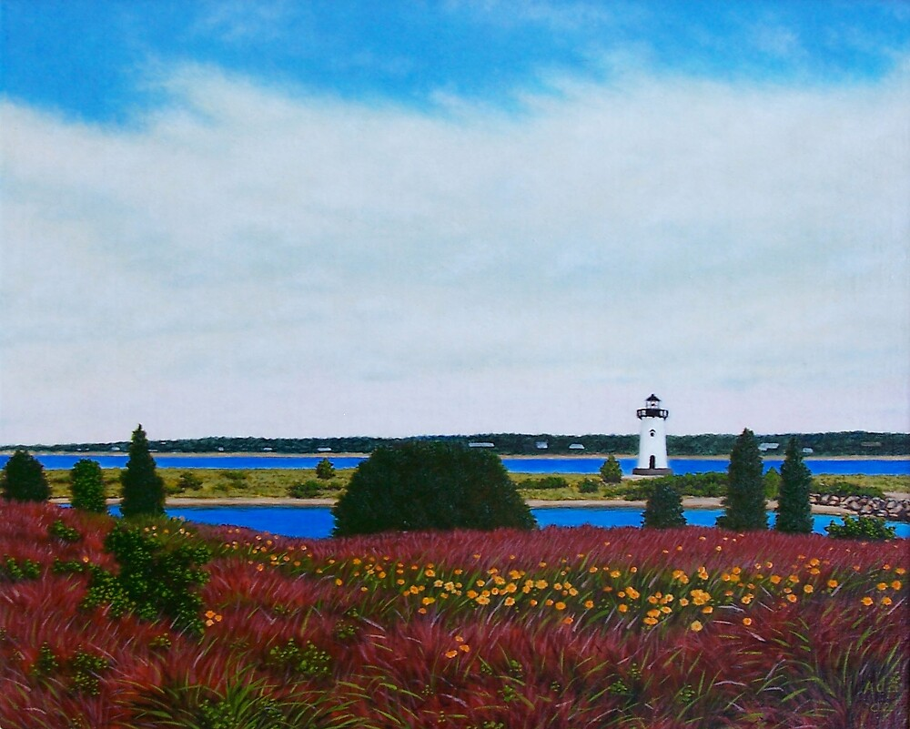 Edgartown Light by Anthony Petchkis