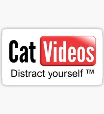 Cat videos - distract yourself Sticker Sticker