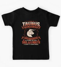 Gag Gift For Taurus Born With My Heart On My Sleeve Taurus Gifts Kids Clothes