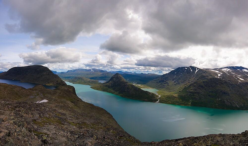 Besseggen Panorama by CalleHoglund