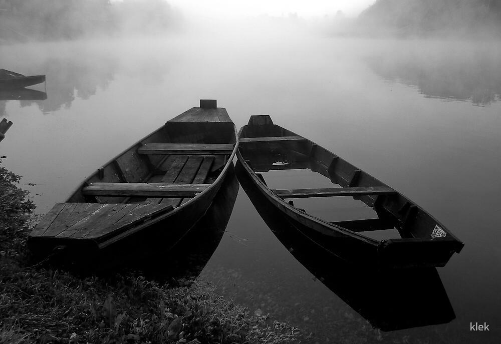 Boats in the Fog by klek