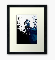 The crow & The butterfly Framed Print