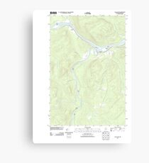 Maine USGS Historical Map Allagash 20110906 TM Canvas Print