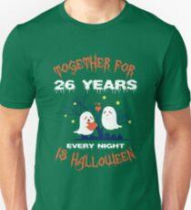 Halloween Shirt For Wife/Husband On 26th Anniversary. Unisex T-Shirt