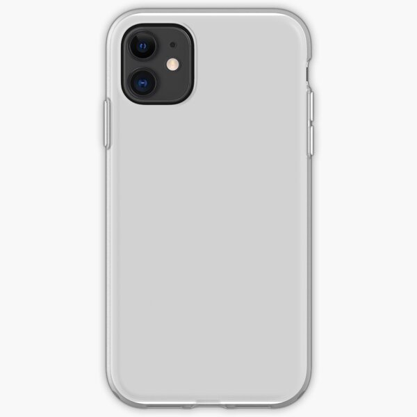 PLAIN SOLID LIGHT GREY -EXCALIBUR GRAY|EXCALIBUR GREY| GREY TONES | GREY HUES - OVER 100 SHADES OF GREY AND SILVERS ON OZCUSHIONS iPhone Soft Case