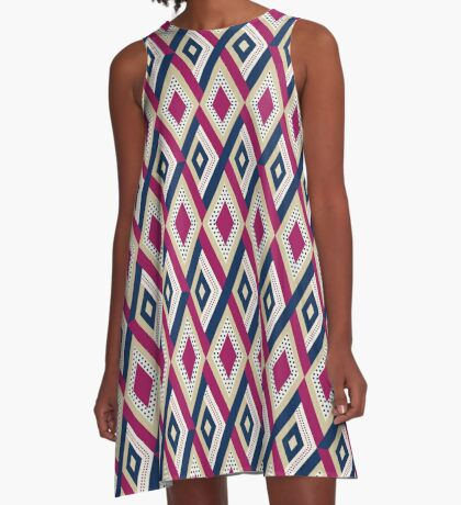 AFE Diamond Pattern A-Line Dress