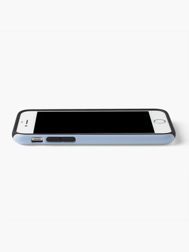 Alternate view of PLAIN SOLID LIGHT STEEL BLUE-100 BLUE SHADES ON OZCUSHIONS ON ALL PRODUCTS  iPhone Case & Cover