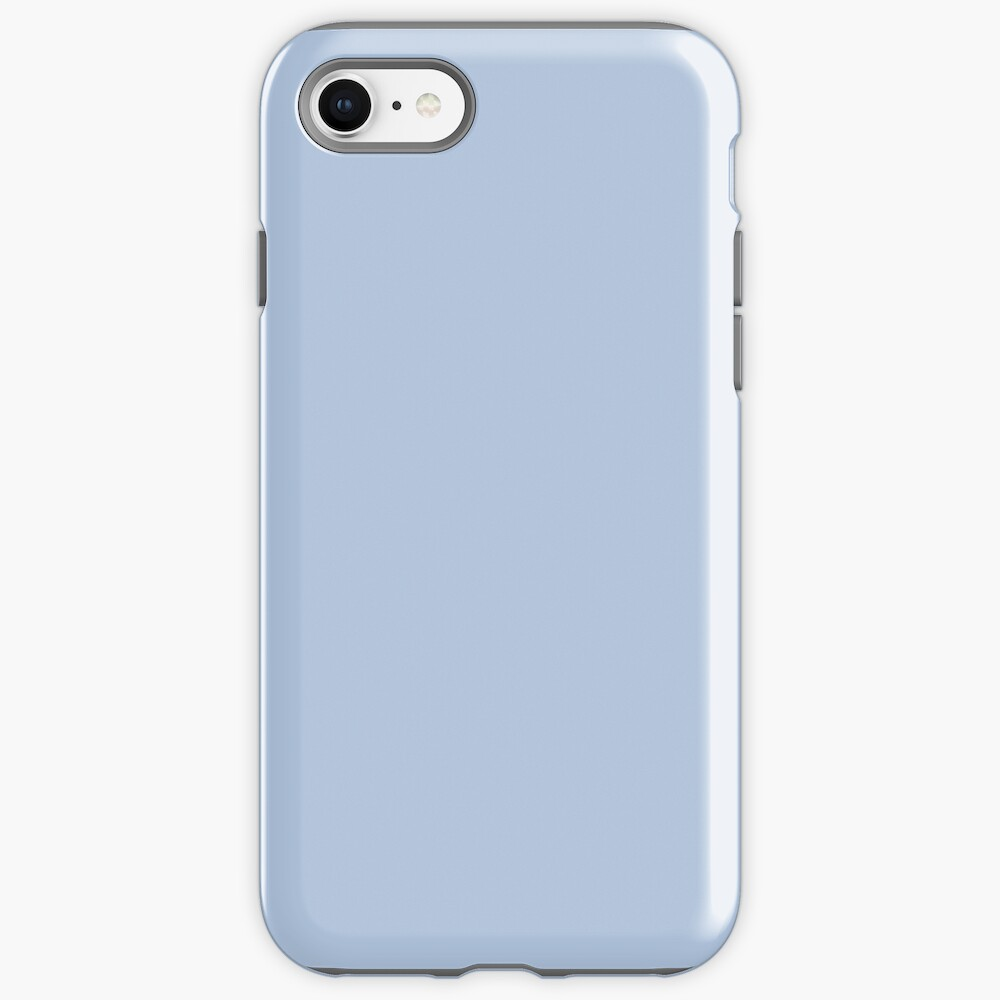 PLAIN SOLID LIGHT STEEL BLUE-100 BLUE SHADES ON OZCUSHIONS ON ALL PRODUCTS  iPhone Case & Cover