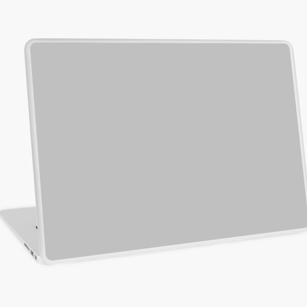 PLAIN SILVER - OVER 100 SHADES OF GREY AND SILVERS ON OZCUSHIONS Laptop Skin