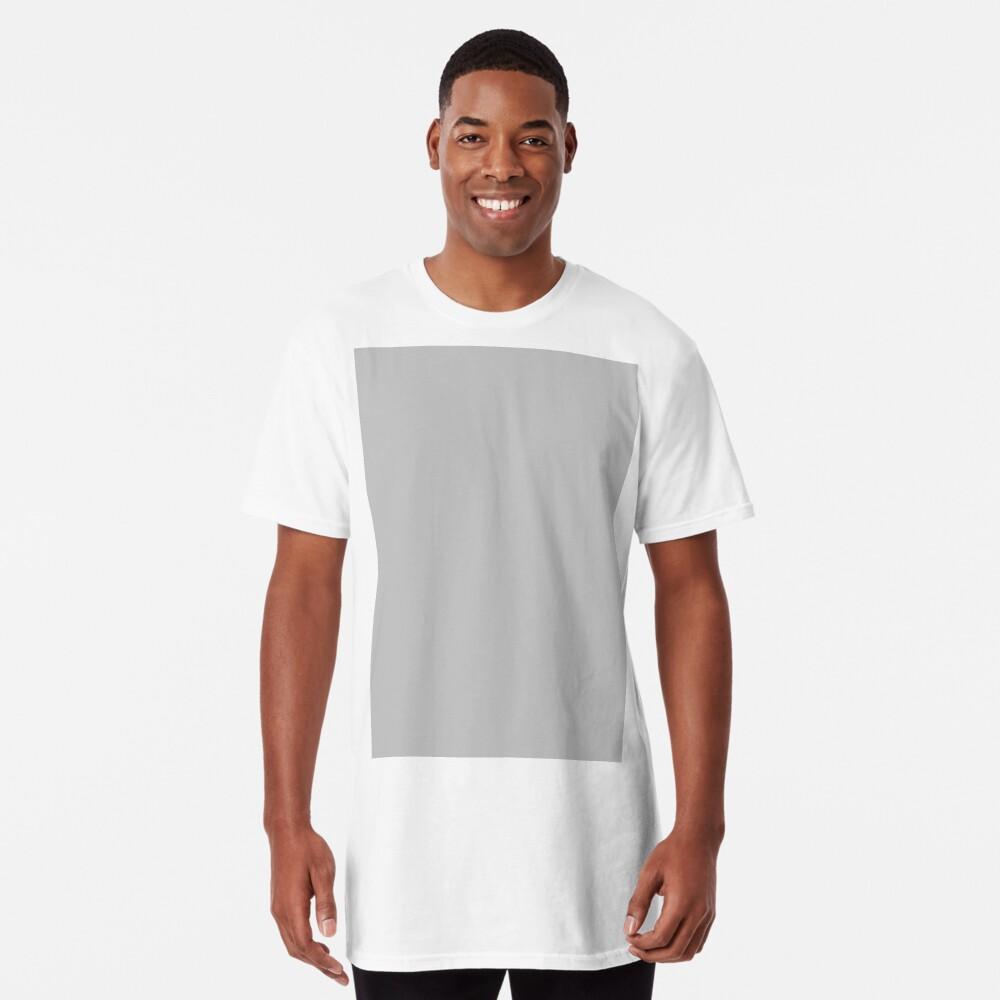 Beautiful Cushions/ Plain Silver Long T-Shirt