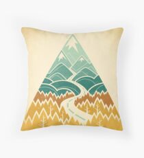 The Road Goes Ever On: Autumn Throw Pillow