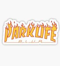 """Blur """"Parklife"""" Thrasher Logo Sticker"""