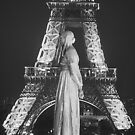 Lady and Eiffel Tower by mistyrose