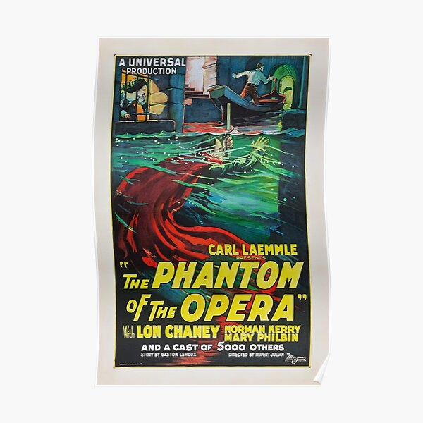 The Phantom of the Opera - Lon Chaney - 1925 - Poster Poster