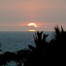 Full Sunset over Kona by Cheryl  Lunde