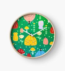 Colorful bugs and moths Clock