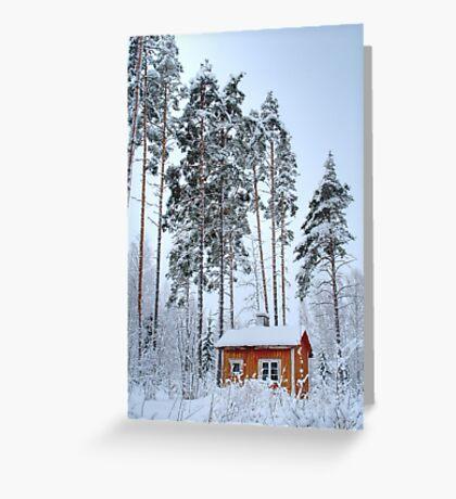 4.2.2015: Small and Abandoned Sauna III Greeting Card