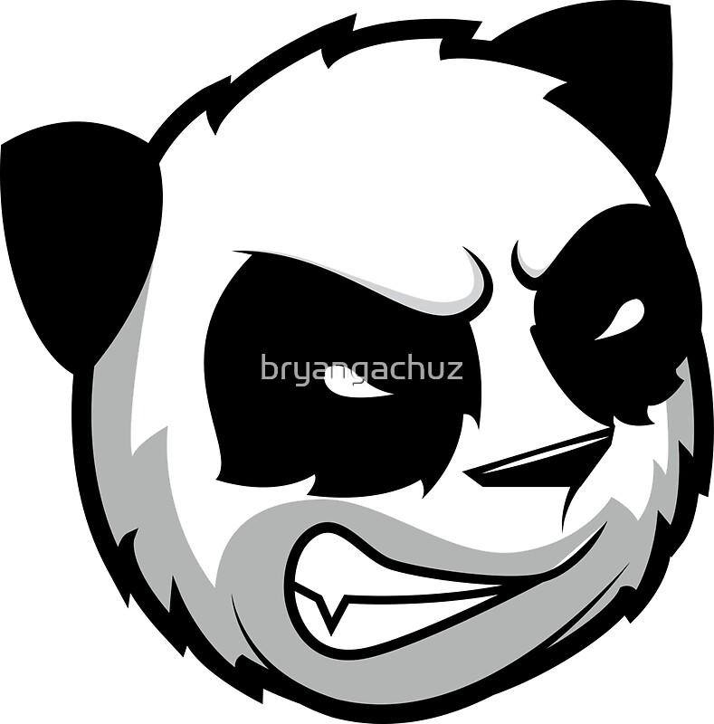 Quot Angry Panda Quot Stickers By Bryangachuz Redbubble