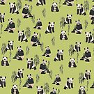 Pandas in Green! by ERINPETA