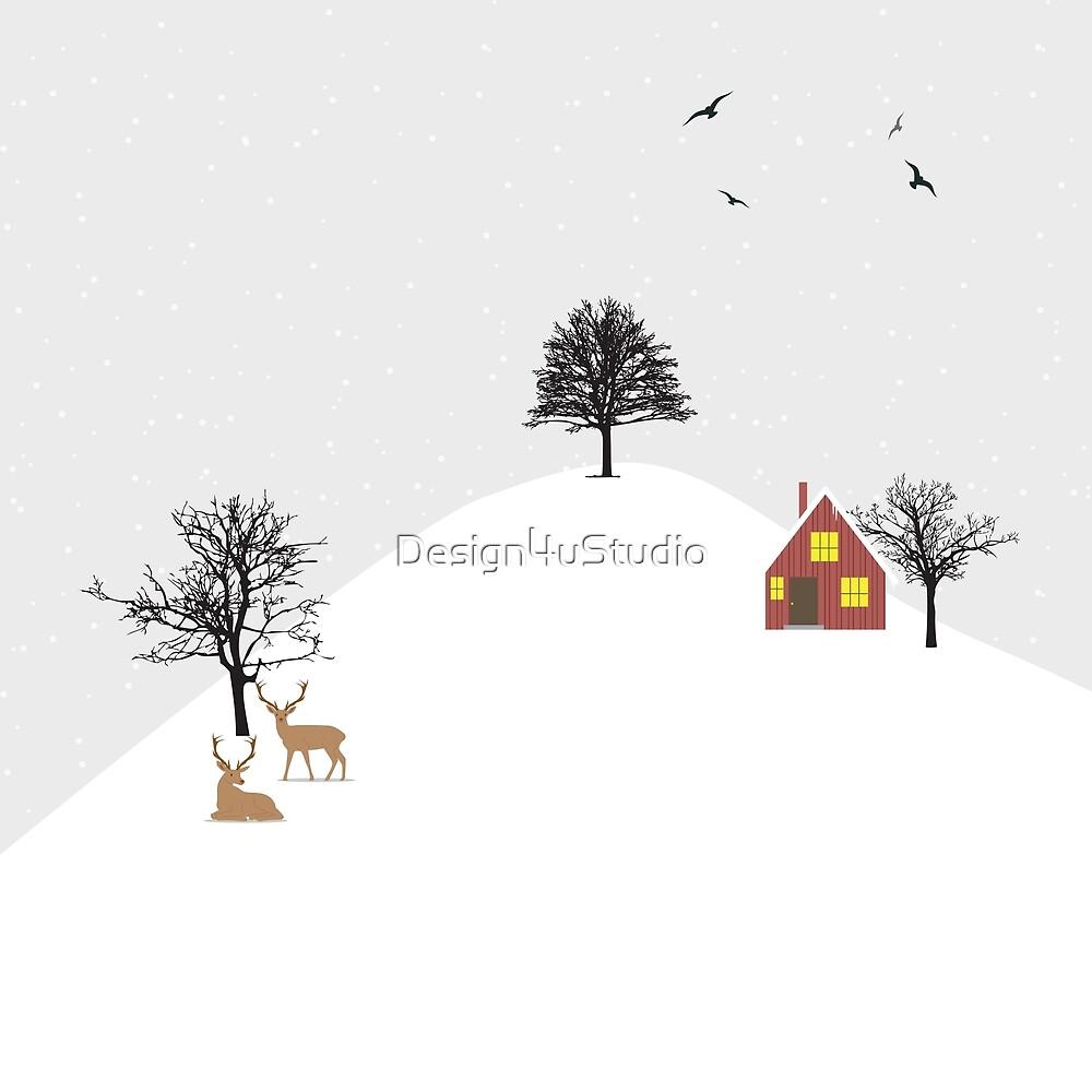 Snowy Landscape by Design4uStudio