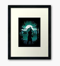 Warden Silhouette Framed Print