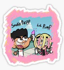 Lil Pump + Smoke Purpp Sticker Sticker