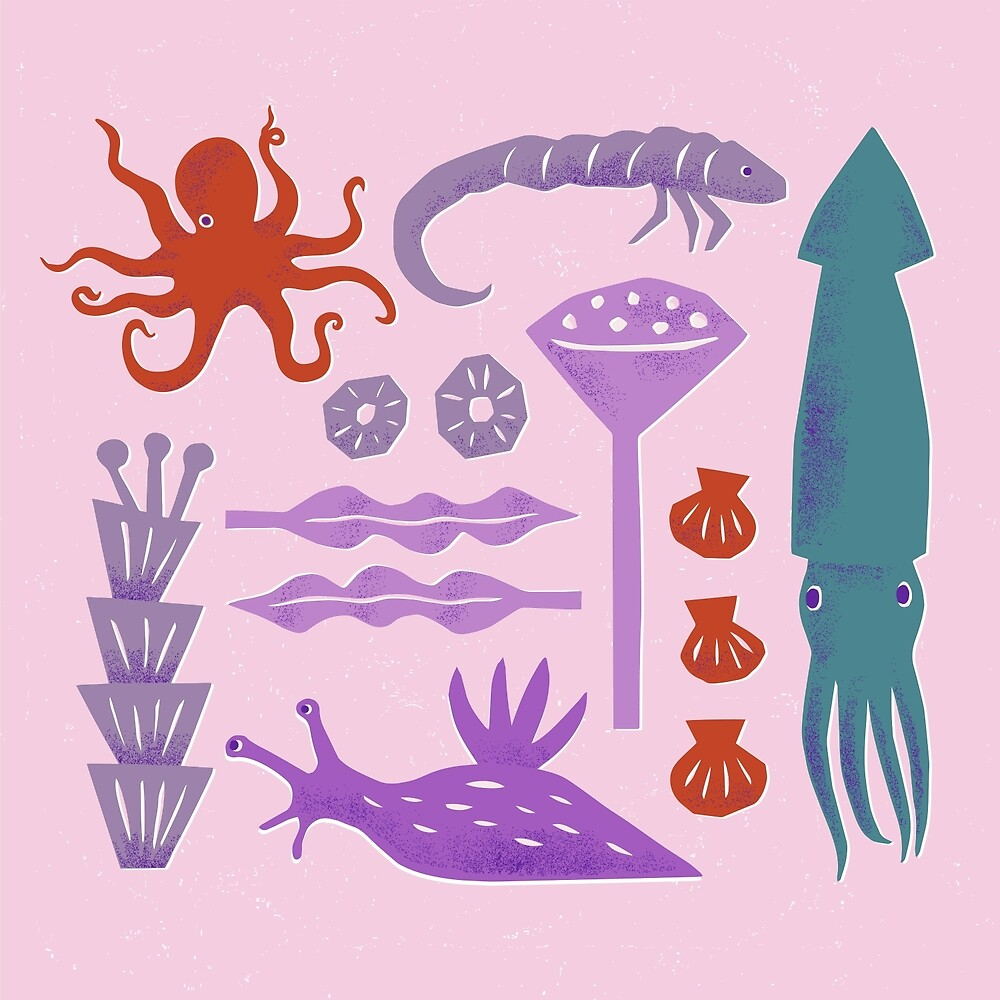 Sea Creatures by Hiné Mizushima