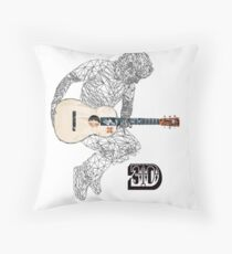 Jump up to the ed ge of world Throw Pillow