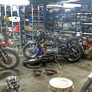 Motorcycle wrecking Shop by JaninesWorld