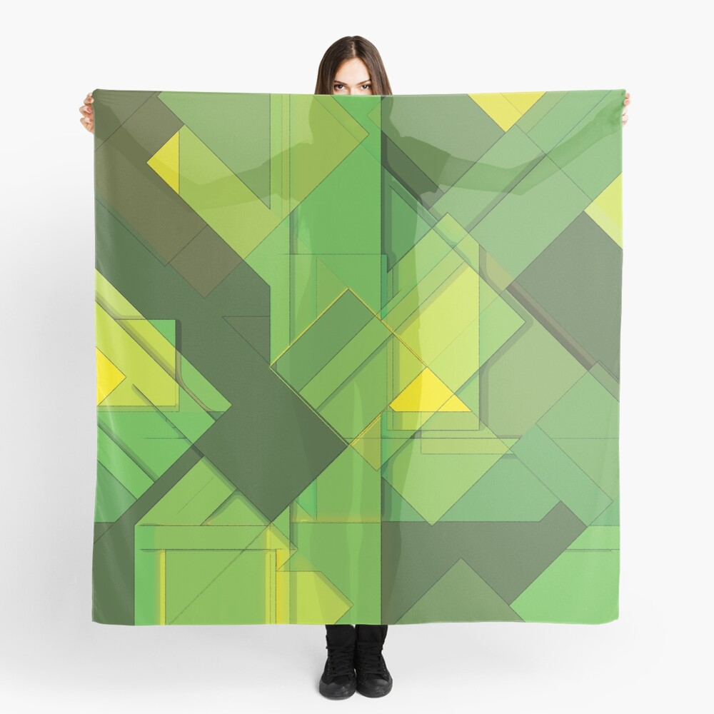 So Abstract, So Green Scarf