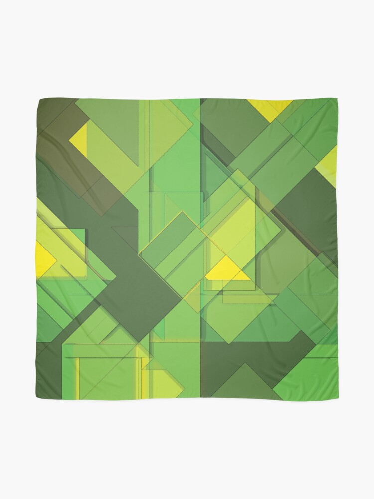 Alternate view of So Abstract, So Green Scarf