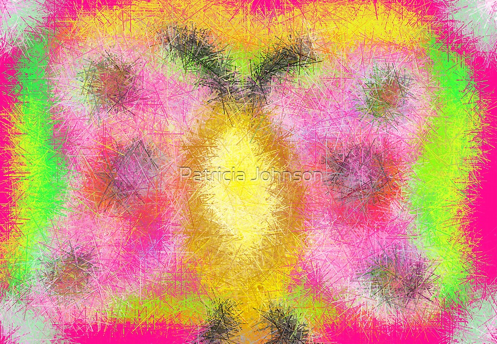 Abstract Butterfly Greeting Card by Patricia Johnson