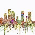 Skyline Houstons, Texas SG - verblaßter Ruhm von Marlene Watson