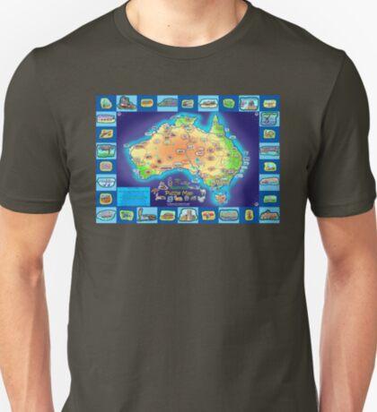 Australia Map board game T-Shirt