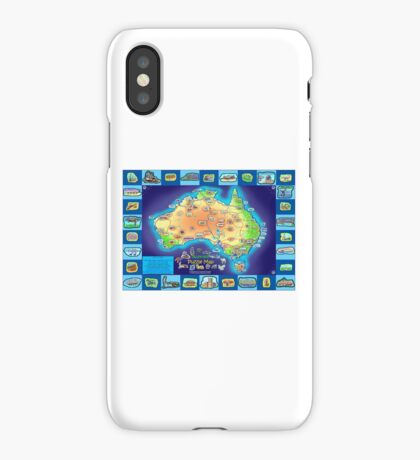 Australia Map board game iPhone Case/Skin