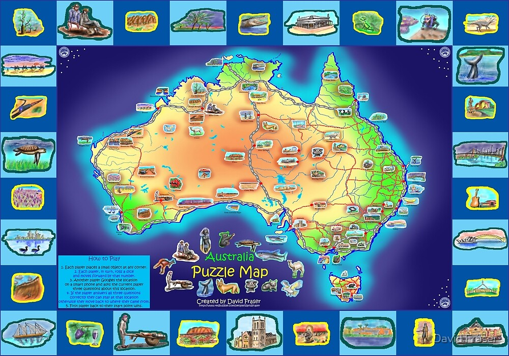 Australia Map board game