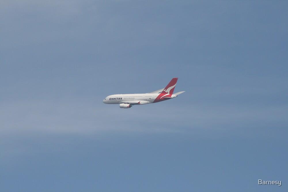 QANTAS Airbus A380  by Barnesy