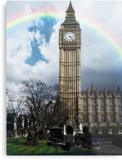 Rainbow Over Big Ben by Nathan Walker