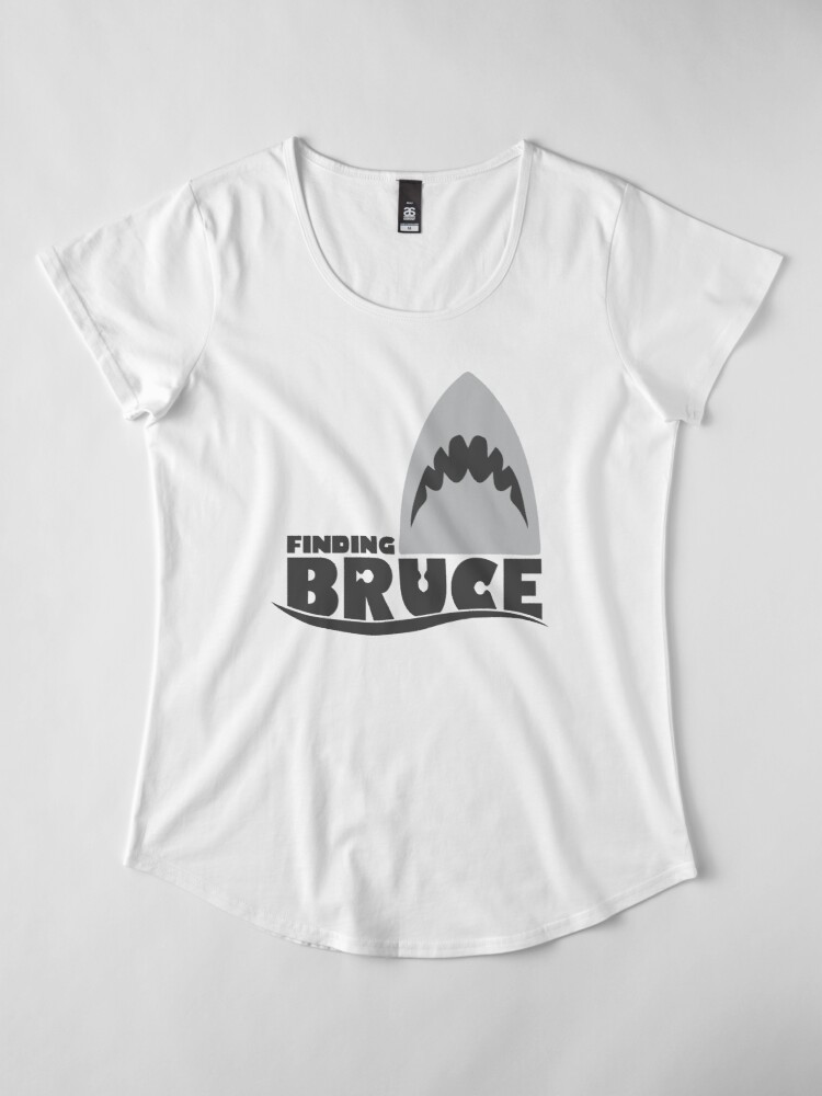 Alternate view of Finding Bruce (Finding Dory inspired horror) Premium Scoop T-Shirt