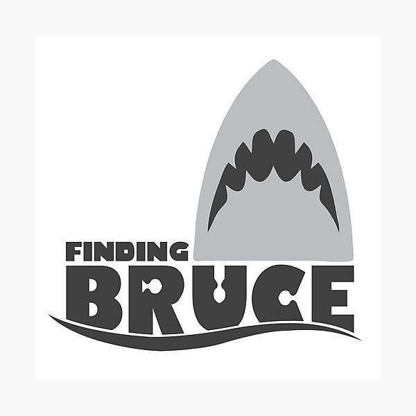 Finding Bruce (Finding Dory inspired horror) Photographic Print