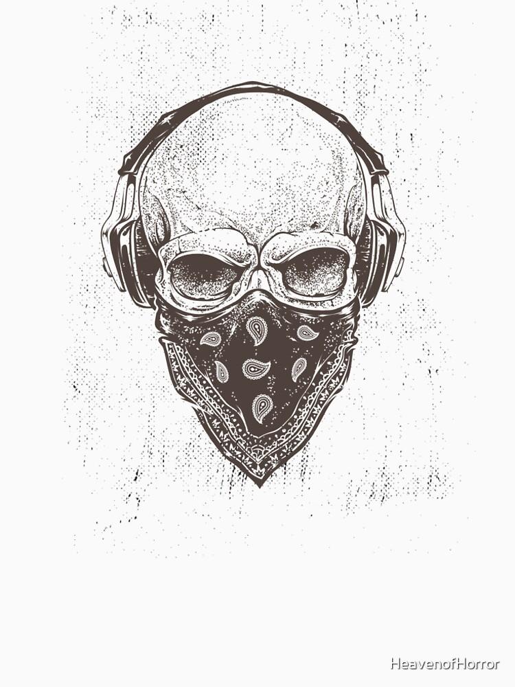 Rock 'n' Roll Loving Skull by HeavenofHorror