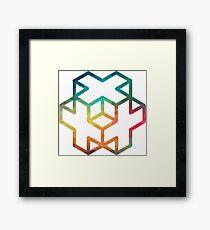Sacred geometry 04 Rainbow Framed Print