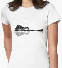 Nature Guitar Women's Fitted T-Shirt