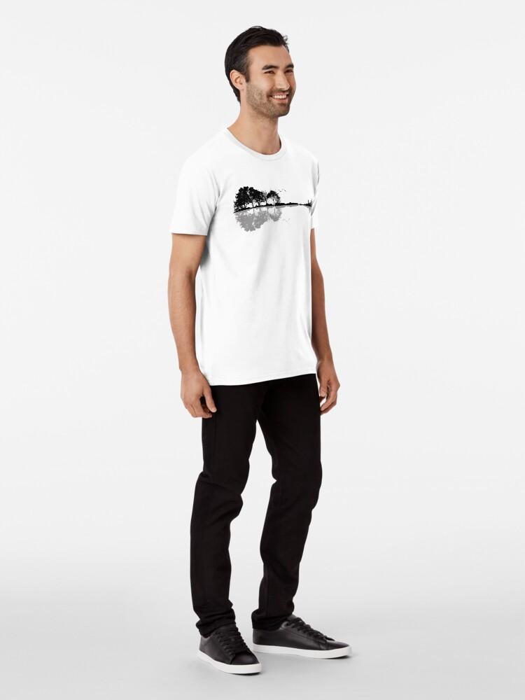 Alternative Ansicht von Natur Gitarre Premium T-Shirt