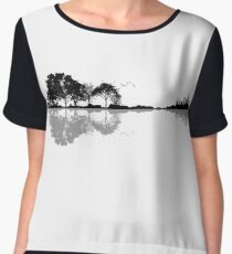 Nature Guitar Women's Chiffon Top