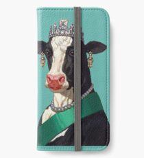 Kuhkönigin iPhone Flip-Case/Hülle/Klebefolie