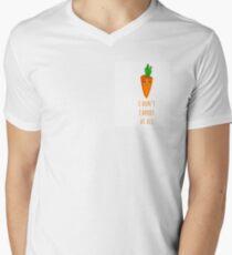 I don't carrot at all Men's V-Neck T-Shirt