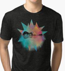Colorful Geometric Nature Guitar Tri-blend T-Shirt