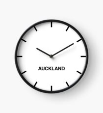 Newsroom Wall Clock Auckland Time Zone Clock