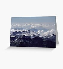 Heavenly view, Bernese Alps Greeting Card